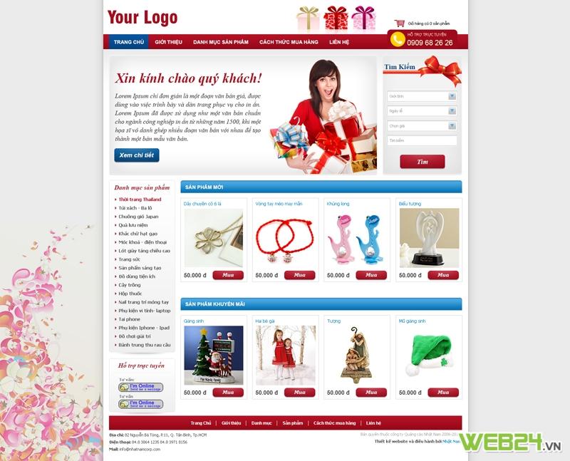Mẫu web bán hàng