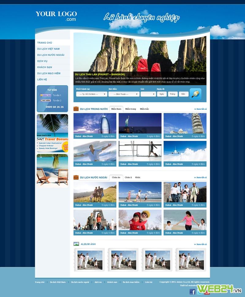 Mẫu website du lịch 02