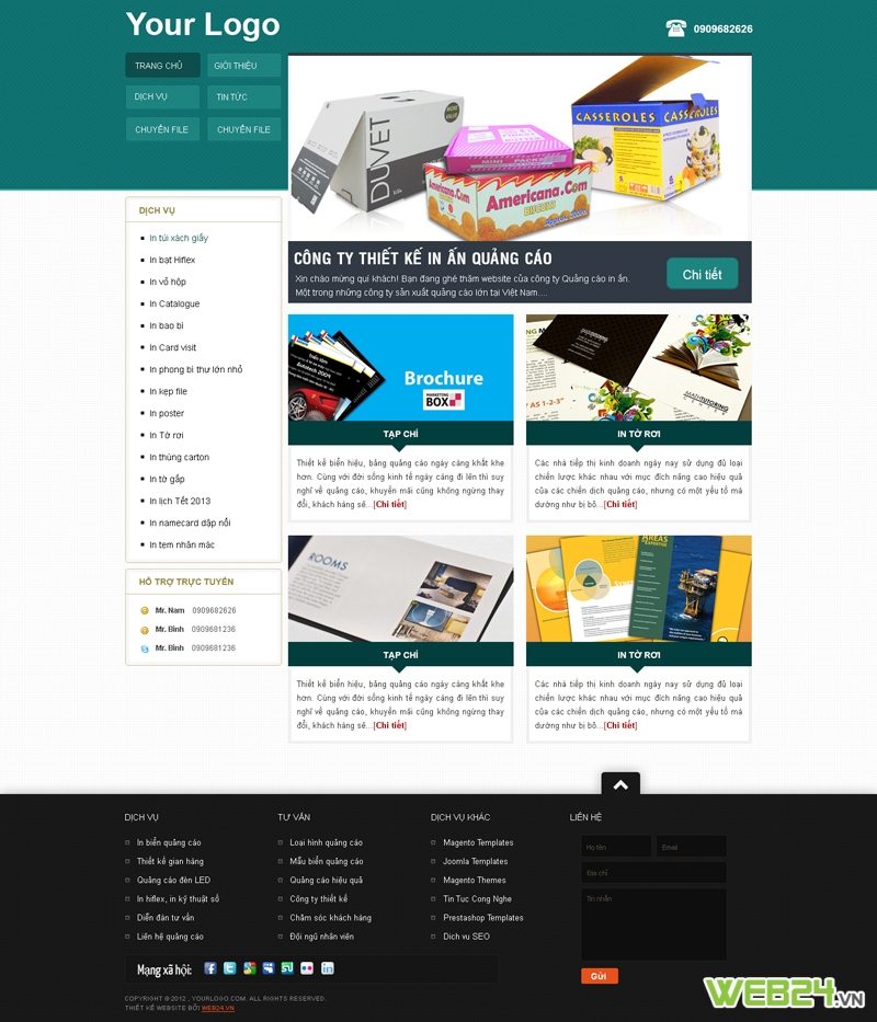 Mẫu website in ấn 02