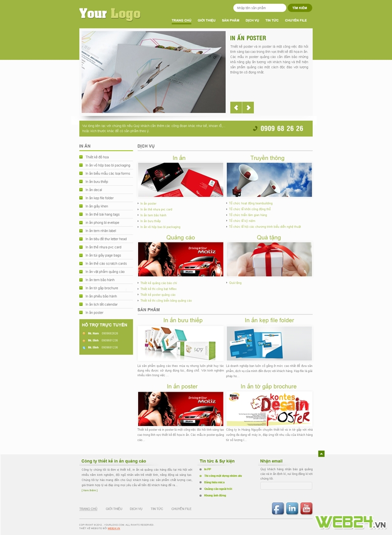 Mẫu website in ấn 03