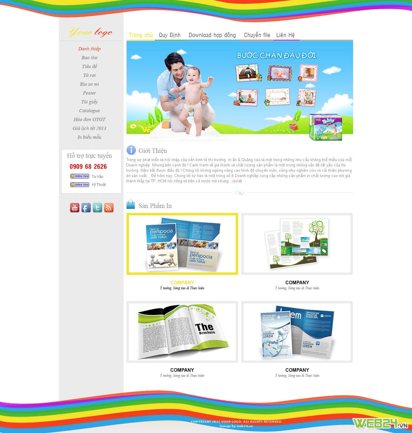 Mẫu website in ấn 04