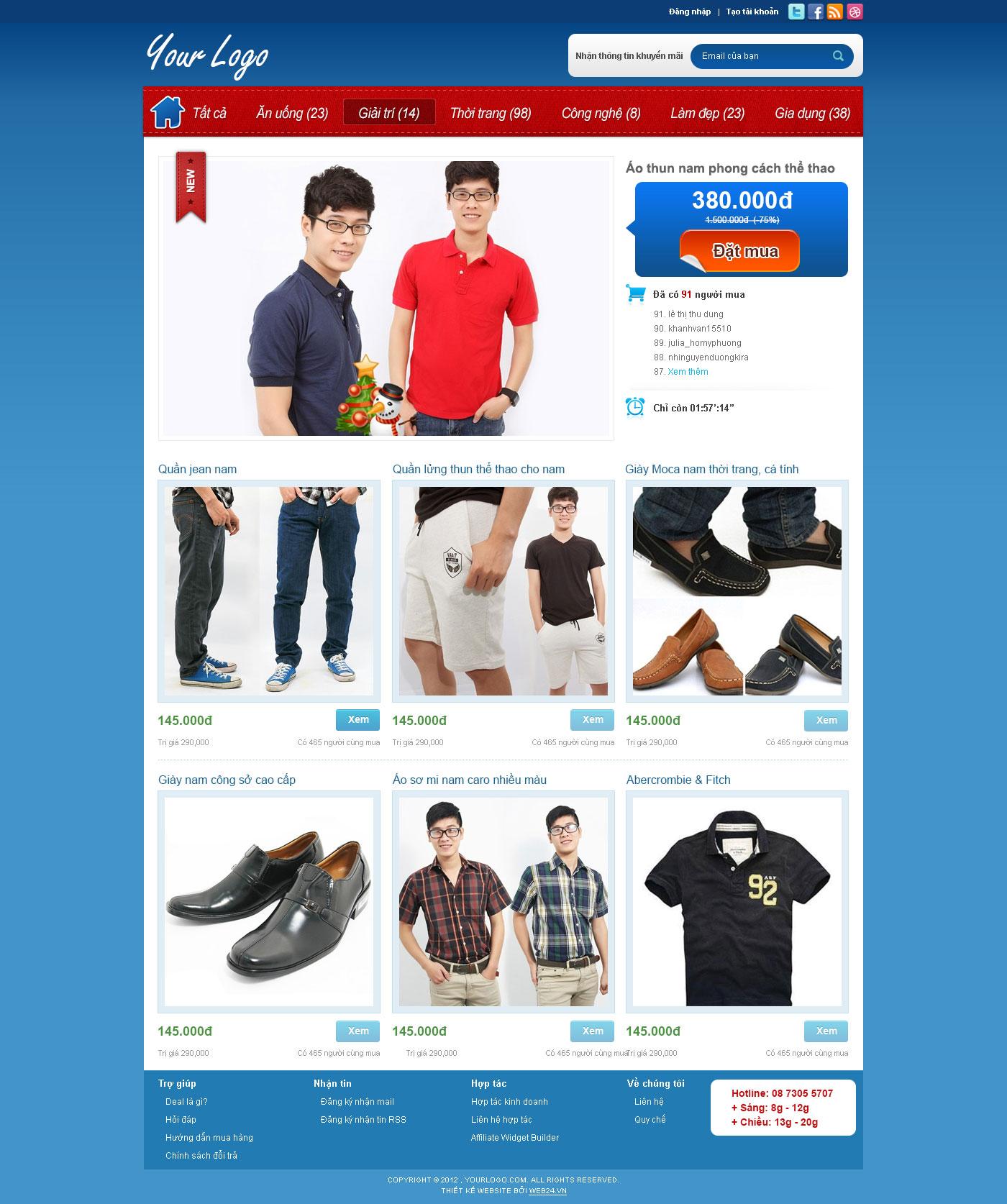 Mẫu web deal 02