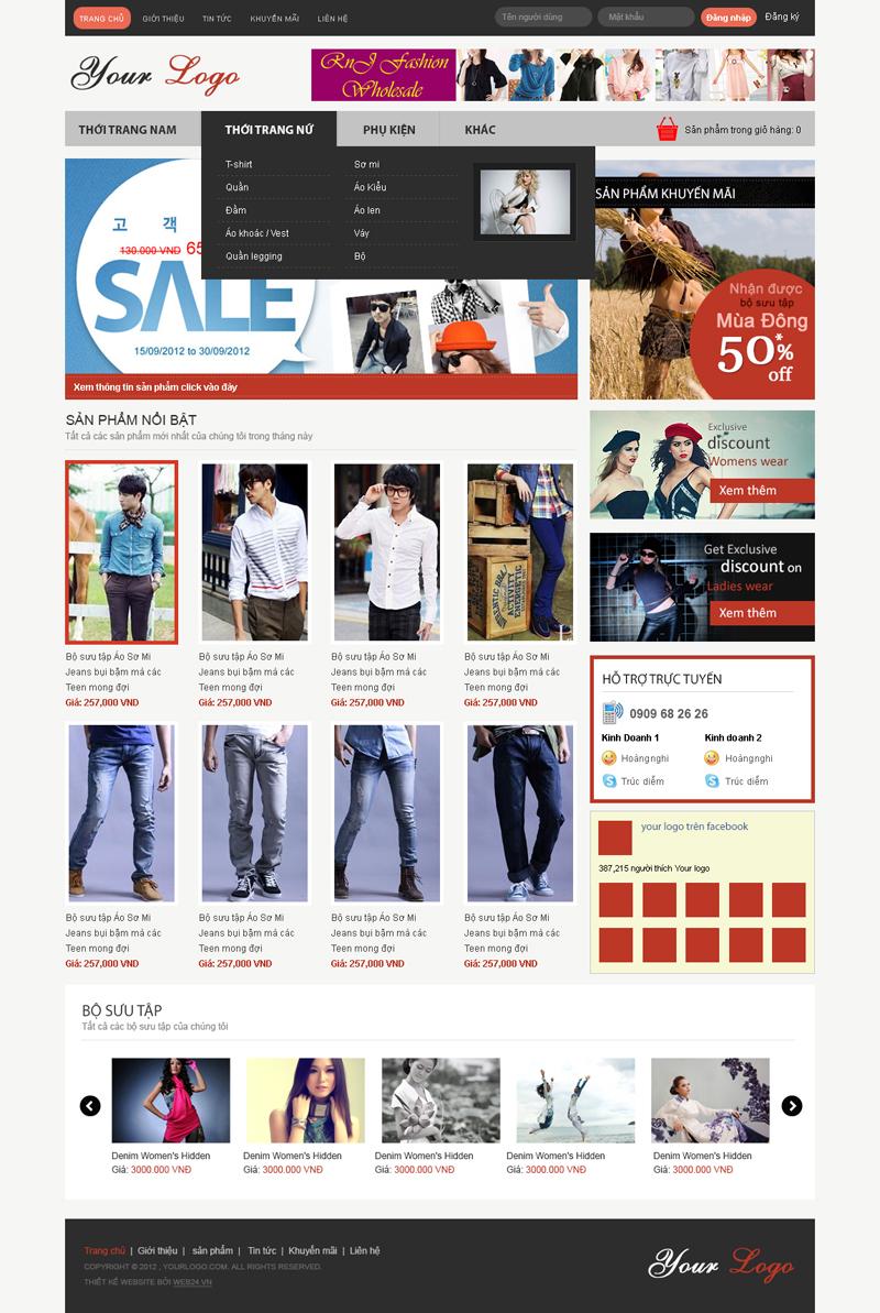 Website Shop quần áo
