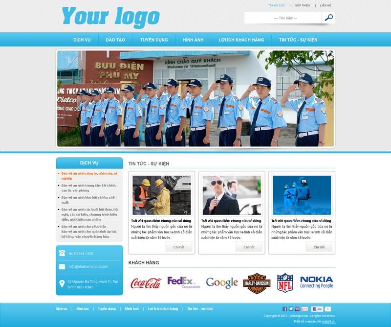 Website Dịch vụ bảo vệ 2