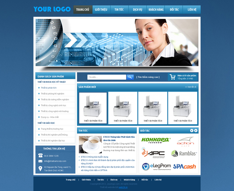 Website Thiết bị khoa học kĩ thuật