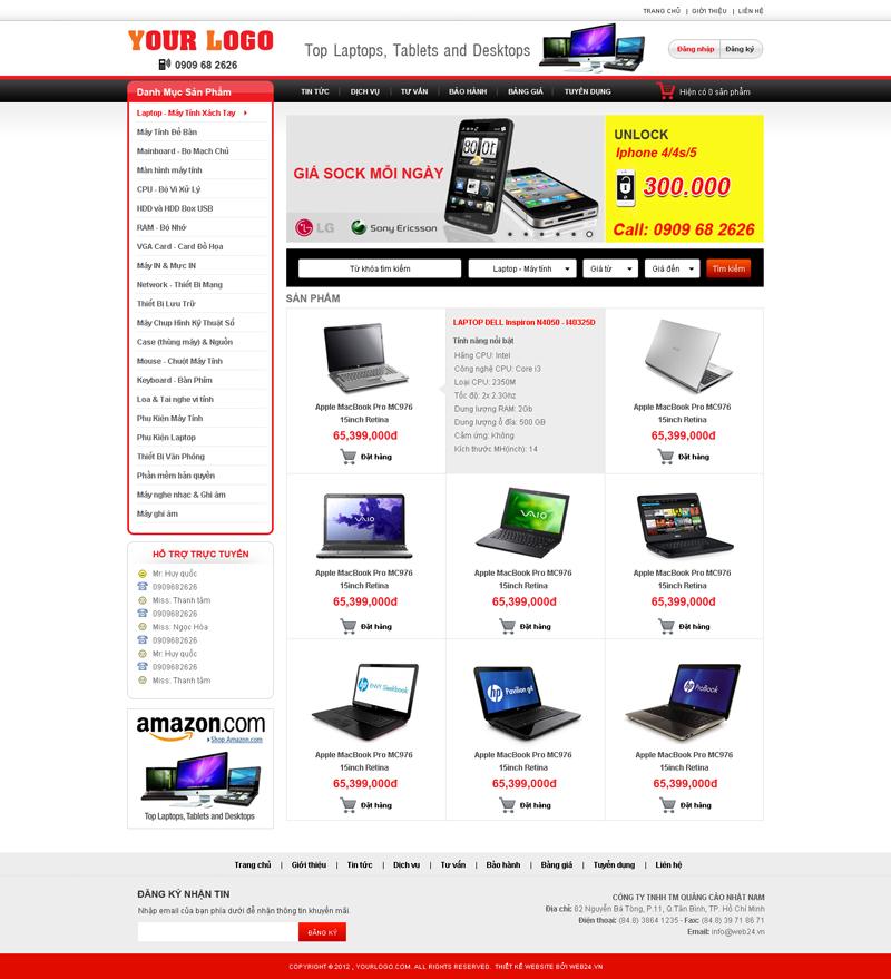 Website Máy tính