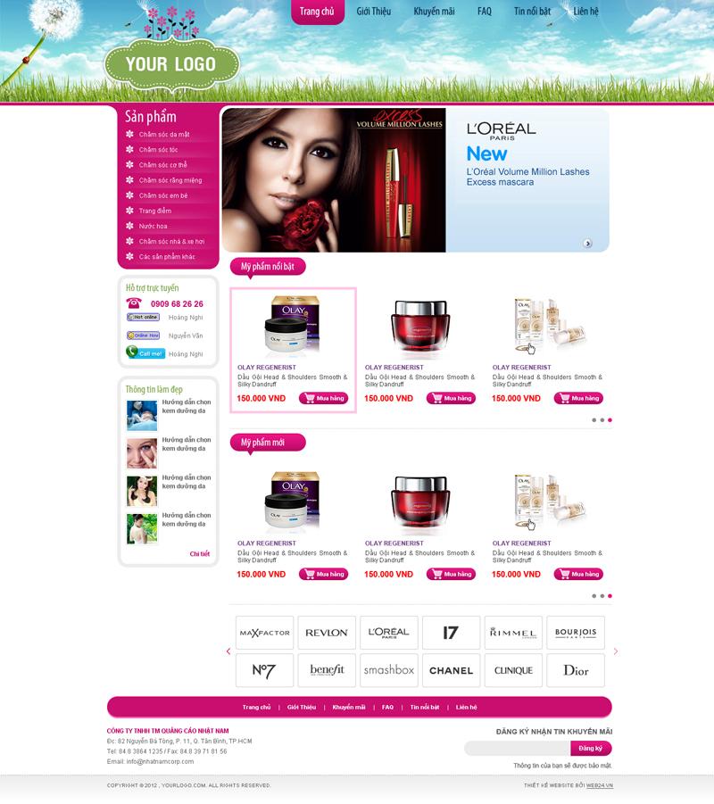 Website Mỹ phẩm