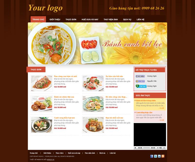 Website Quán ăn 2