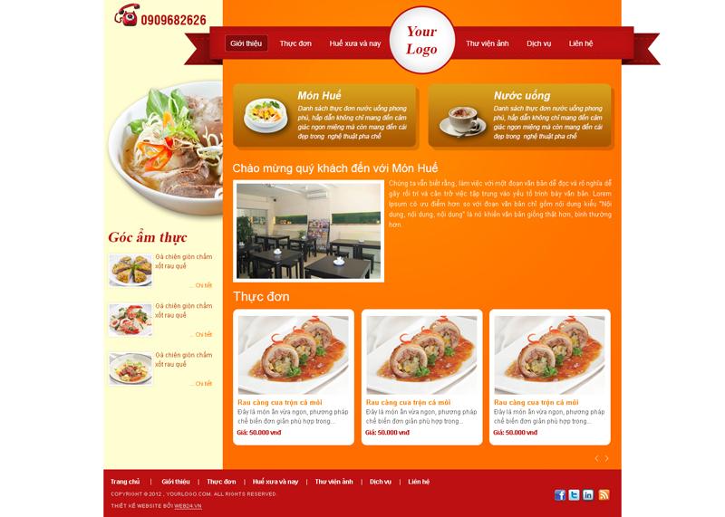 Website Quán ăn