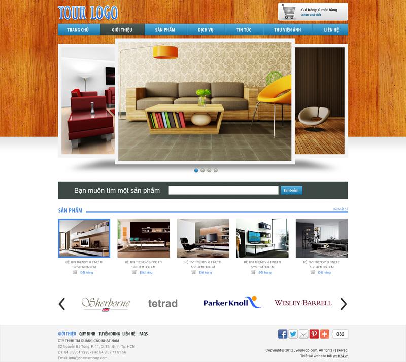 Website Đồ gỗ và trang nội thất