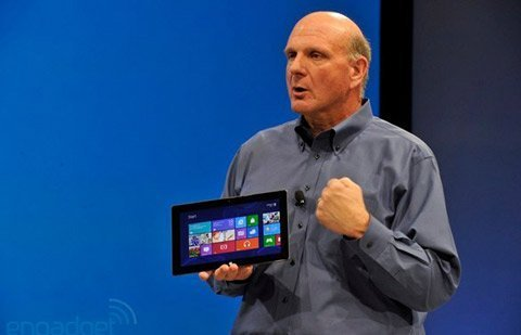 CEO Microsoft tiết lộ giá tablet Surface