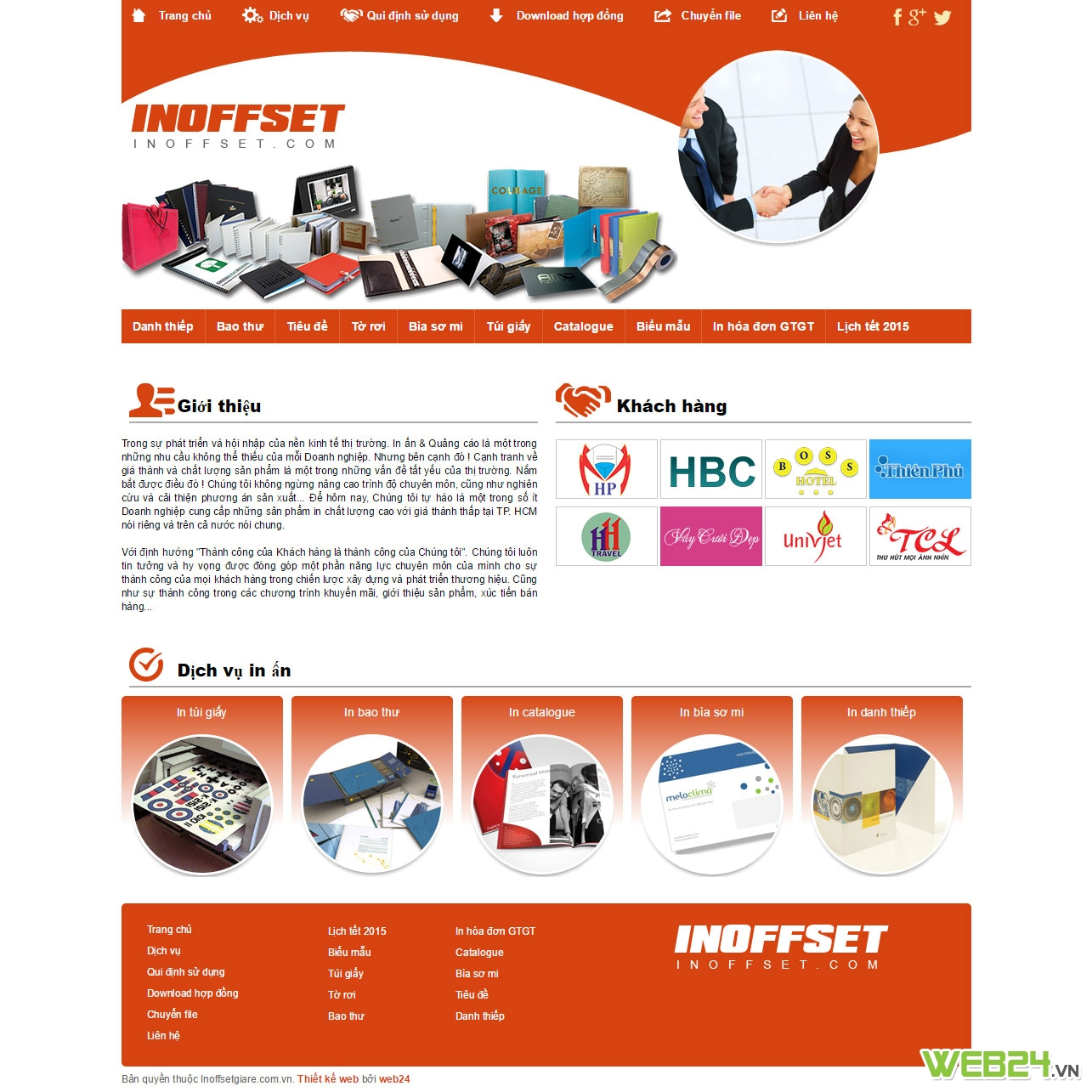 Thiết kế web In Offset giá rẻ
