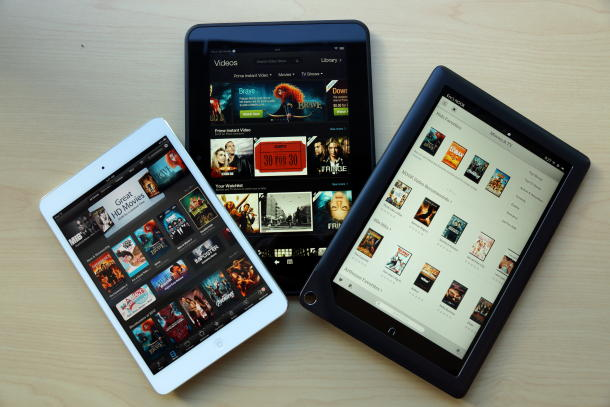 So sánh iPad mini, Kindle Fire HD 8.9 và Nook HD+